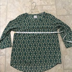 CAbi Tops - CABI WOMEN's GREEN FLORAL BLOUSE SZ MM